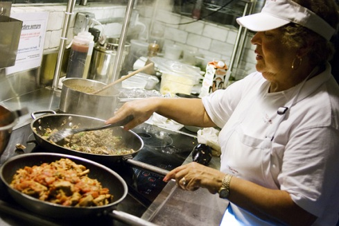 Carmelina in the kitchen